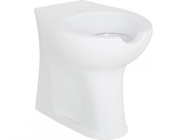 Stand-Tiefspül-WC Elida aus Keramik, weiß, mit Öffnung, BxHxT 375x370x570mm