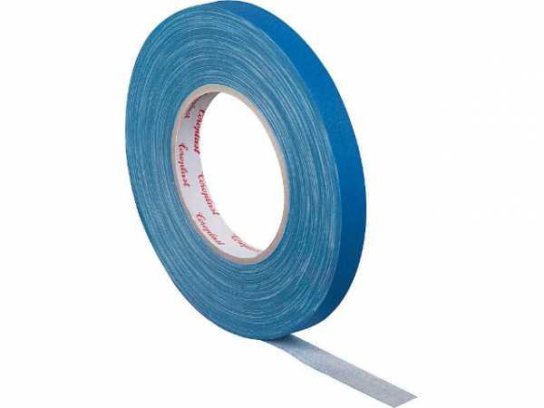 Gewebeklebeband, kunststoffgeschützt blau, Breite 15 mm Länge 50 m