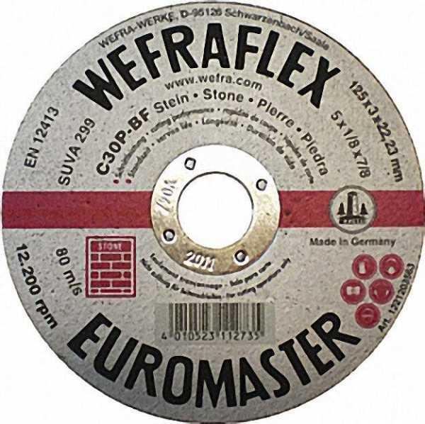 Trennscheibe Euromaster silber gerade für Stein 178 x 3 x 22mm