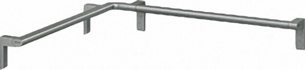 Duschhandlauf Serie Cavere aus Alu., Anthrazit-Metallic 95, 750x750mm, inklusive Befestigung