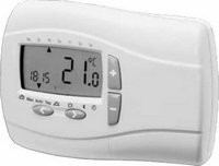 Logafix Funk-Uhrenraumthermostat FRTU digit. Anzeige, für Uhrzeit/Temperatur