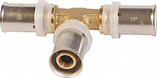 Pressfitting für MSVR T-Stück mit Mittelabgang reduziert 50x4,0mm - 32x3,0mm - 50x4,0mm