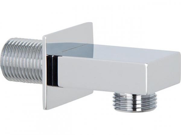 Design-Wandanschlussbogen 90Gr verchromt rechteckige Ausführung