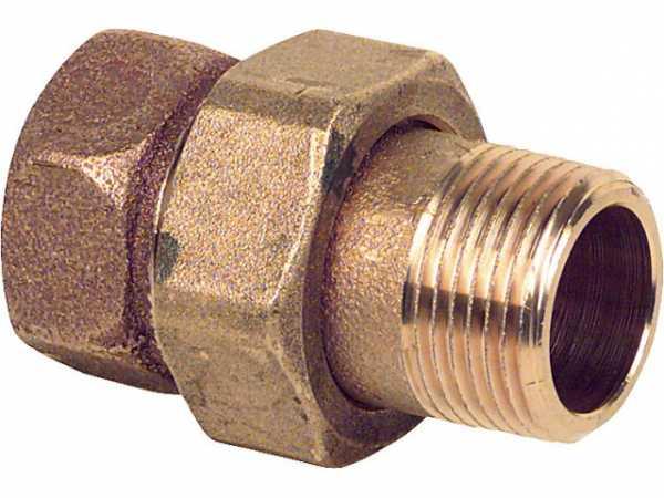 Rotguß-Gewindefitting Verschraubung flach dichtend Typ 3331 1/2'' i/a