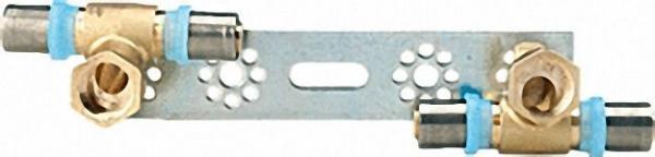 Pressfitting für MSVR Montageplatte mit 2 Fittings 20x2mm-1/2''20x2mm