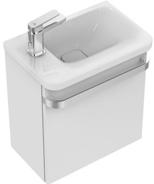 IDEAL STANDARD K0866MA Tonic II Handwaschbecken 460 mm, Ablage links,weiß/Ideal Plus