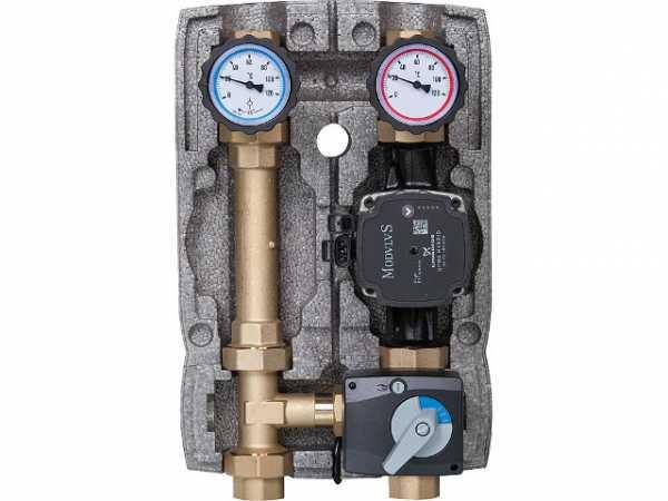 Heizkreisset Easyflow DN25 3-Wegemischer mit Stellmotor, Grundfos UPM3 Auto 25-70 Pumpe
