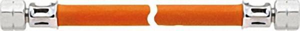 Mitteldruckschlauch Gummi bds. 1/4''LH-Überwurfmutter x 3000mm