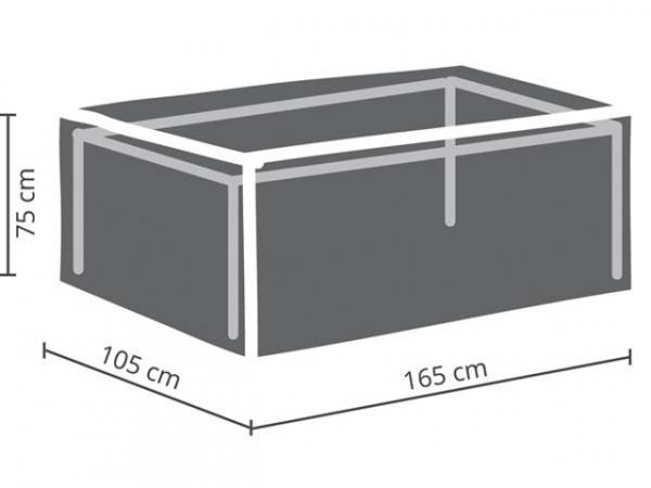 SCHUTZHÜLLE FÜR GARTENTISCH - max. 160 cm OCT160
