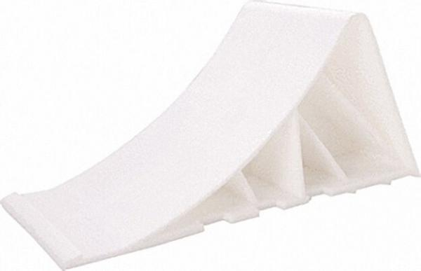Hemmschuh aus Kunststoff weiß, 90mm