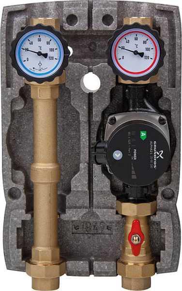Heizkreisset Easyflow DN25 ungemischt, Grundfos UPM 3 Auto L7,5 Pumpe