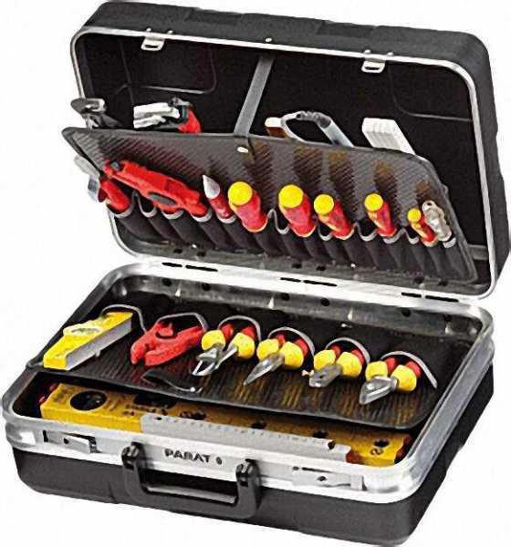 Werkzeugkoffer ABS ABS-Kunststoff schwarz 460x165x310mm 485,020-171