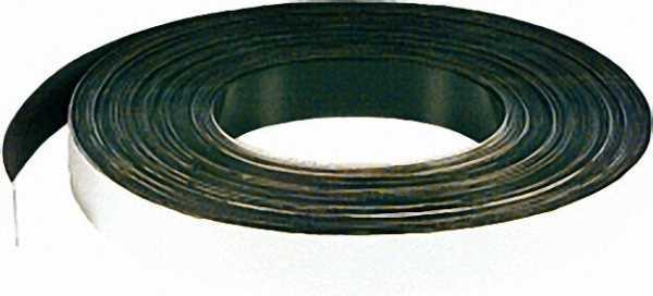 Magnetband Größe 0, 6 x 15mm Farbe weiß, Rolle a 30m