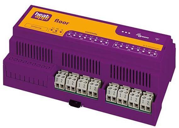 EBV 9600801000 heatapp! Floor, Funk-Zonenregler 230V, inkl.Außenantenne
