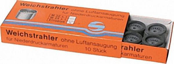 Einsatz für Weichstrahler Niederdruck M 22/24X1 mit Gummidichtung mit Zahnkranz ''''VPE 10 Stück '''