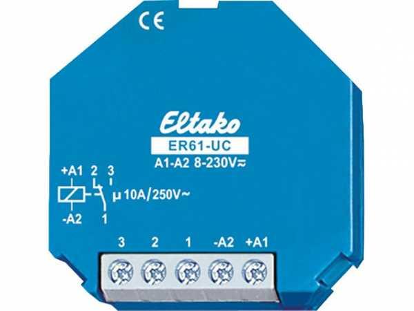 UP Schalterrelais Eltako 1 Wechsler 10A/250V AC ER61-UC