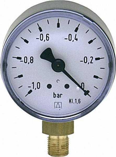 Vakuummeter 50 durch 1/8'' unten -1-0 bar
