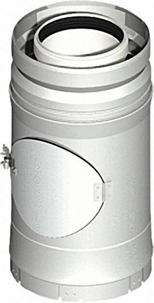 EVENES Kunststoff-Abgassystem Kontroll-Rohr, inklusive Klemmband DN 80/125