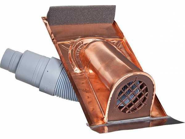 Entlüftungshaube Kupfer mit Kunstoff Balg Universal-Ausführung