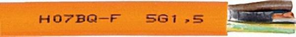 Flexibles Kabel H07BQ-F orange 3 G x 2, 5 qmm Rolle a' 50 Meter