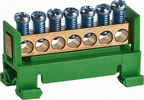 Schutzleiterklemme gelb-grün Typ 60/S 7 / 1 Stück