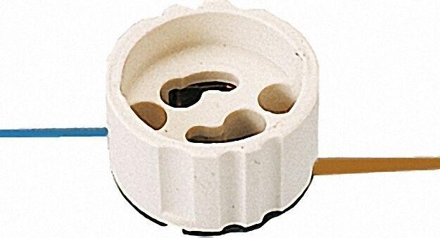 Hochvolt-halogen-fassung Sockel GZ/GU10 VPE = 5 Stück