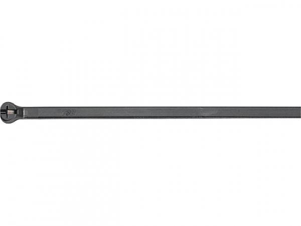 UV-Stahlnasenkabelbinder Ty-Rap 186x4,8mm, Farbe: Schwarz VPE: 100 Stück