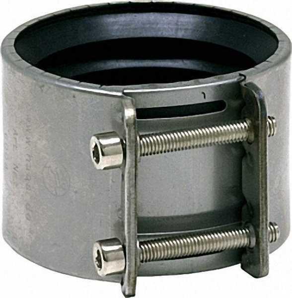 OHA-SpannMuffe DN 200 für SML-und Faserzement-Rohre Edelstahl