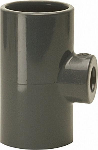 PVC-U - KlebeMuffe T-Stück reduziert, 50x40x50mm, allseit. Klebemuffe