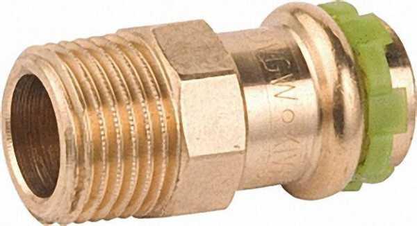 Rotguß Pressfitting Übergangsnippel mit AG 42x1 1/4 P 4243 G
