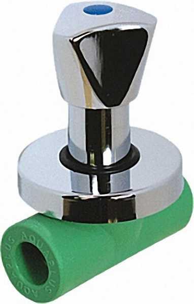 "PPR Rohr Aqua-Plus absperrbarer Hahn PN25 25mm x 1/2"""""