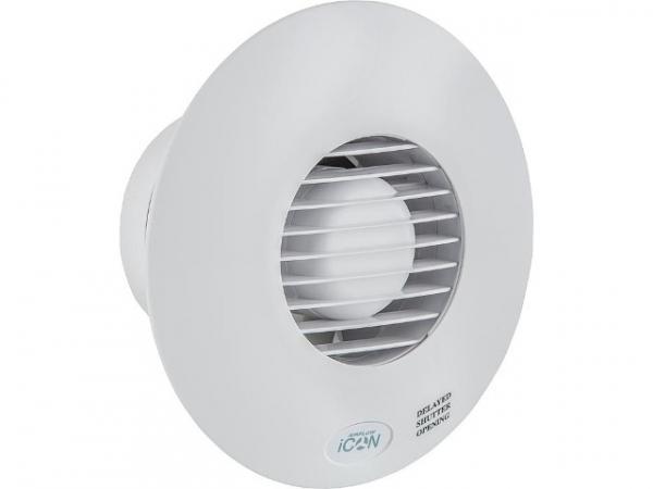 Airflow iCON 15 Kleinraum-Ventilator 68m³/h 230V NW 100 weiß Abluftventilator