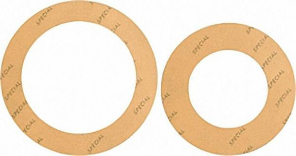 Spezial-Flanschdichtung DN=65 PN=6 65 x 110mm 2mm stark/ gelb