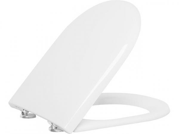 WC-Sitz Turvo, weiß, Softclose aus Duroplast, Edelstahlscharnier