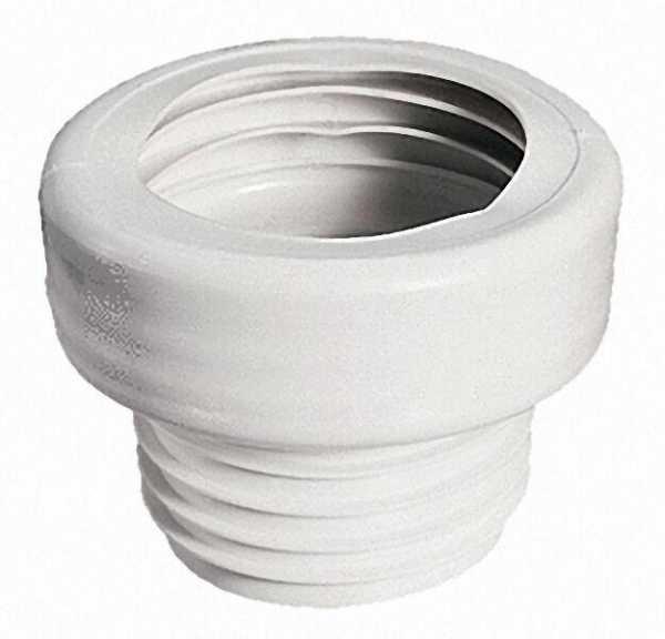 WC-Anschluss gerade Durchmesser 100 x 100 Farbe: weiss