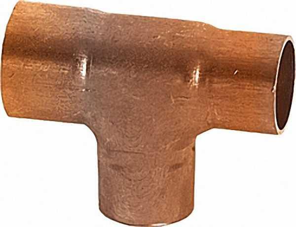 Kupferlötfittings 5130 T-Stück reduziert 42 x 28 x 42mm