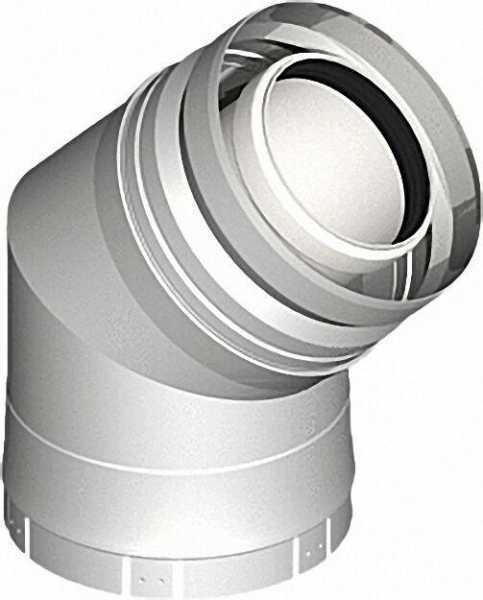 Kunststoff-Abgassystem Bogen 45° - DN 080/125