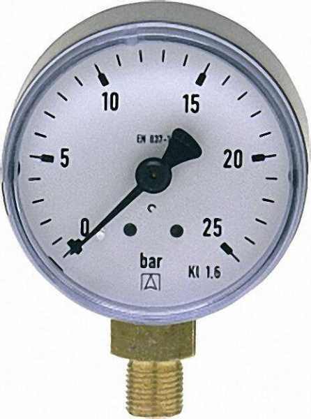 Manometer 50 durch 1/8'' unten 0-25 bar