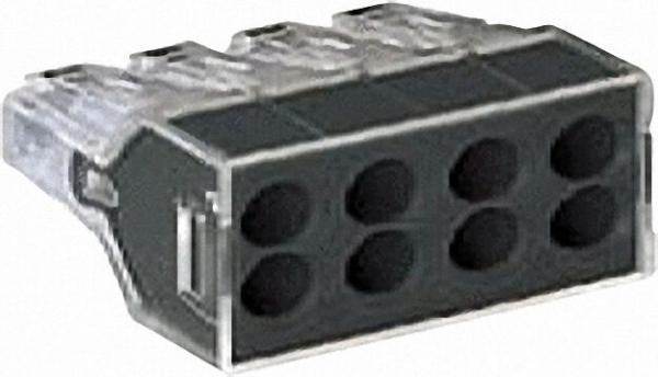 Verbindungsdosenklemmen 273 8-Leiter-Klemmen, transparent 8x1-2,5mm², VPE=50
