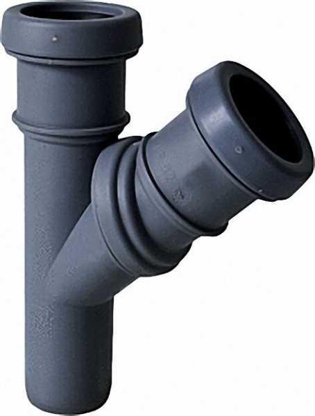 AIRFIT Jotiflex Abzweig-Stück 45-90° verstellbar grau 32/32mm Einzelmuffe