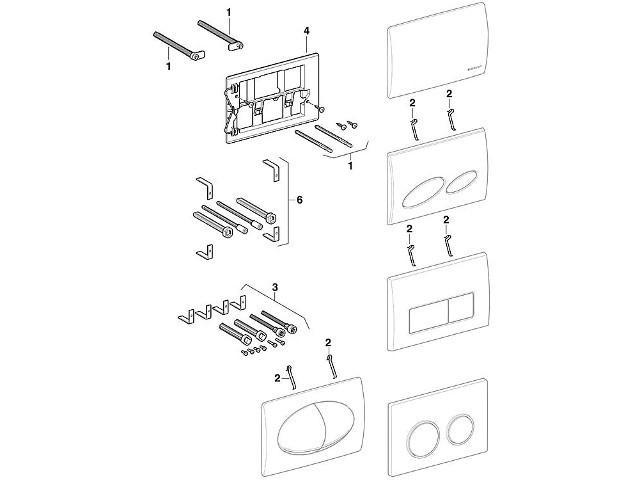 geberit dr ckerstangen set preisvergleich die besten angebote online kaufen. Black Bedroom Furniture Sets. Home Design Ideas
