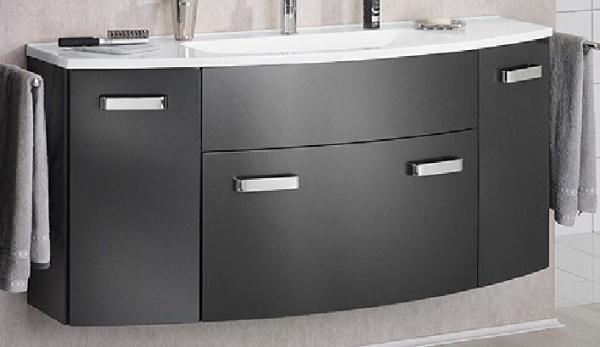LANZET 7220712 S2. 1 Waschtischunterschrank: 120x63x45 Grafit/Grafit 1 Schublade