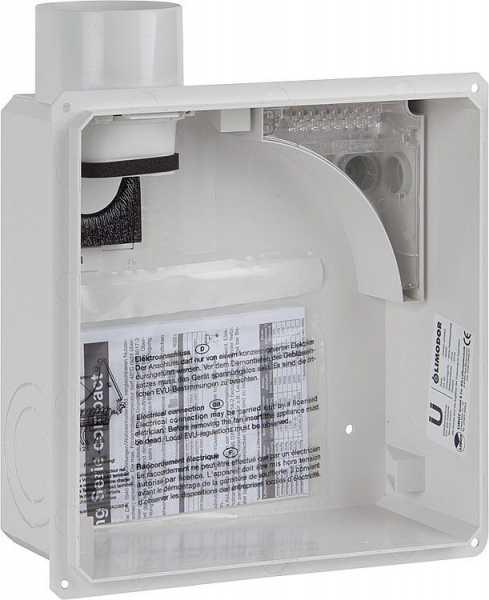 LIMODOR 80000 Unterputzgehäuse compact Abluftstutzen DN80, seitlich