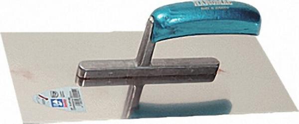 Glättekelle 280x130x0, 7mm rostfrei blaues Heft