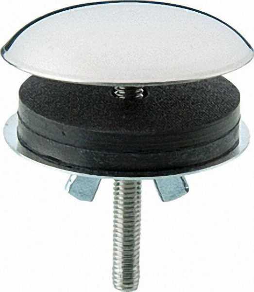 Deckrosette zum Abdecken von nicht benötigter Bohrungen in Spülen und Waschbecken, Niro poliert 42mm