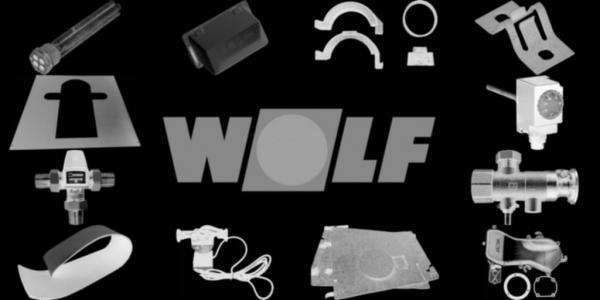 WOLF 8810131 Zubehör Vor-/Rücklauf(Verschlußklappen, Tür-und Kesselfußschrauben)