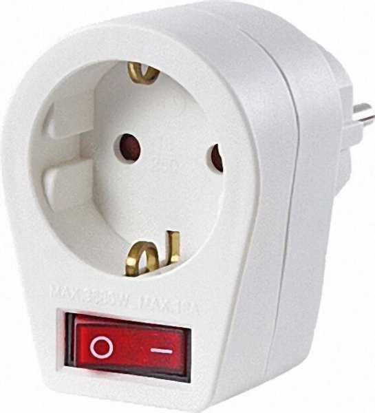 Steckerschalter mit Kontrolllampe, weiß LSV 6492