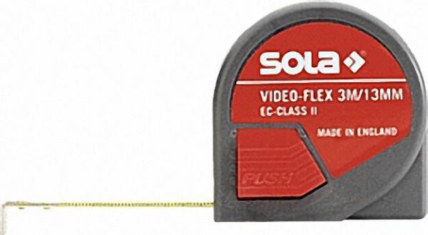 Rollbandmaß VideoFlex Länge 3m mit Rücklaufsperre und automit Bandeinzug