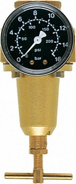 Druckluft-Druckregler G1/4 + G3/8 Regelbereich/Skala 0, 5 - 10/16 Durchfluss 1,000 l/min