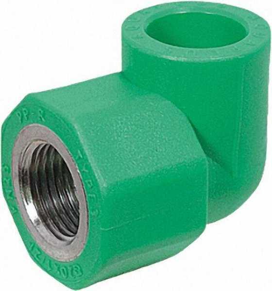 PPR Rohr Aqua-Plus Winkel IG PN25 25mm x 1/2''
